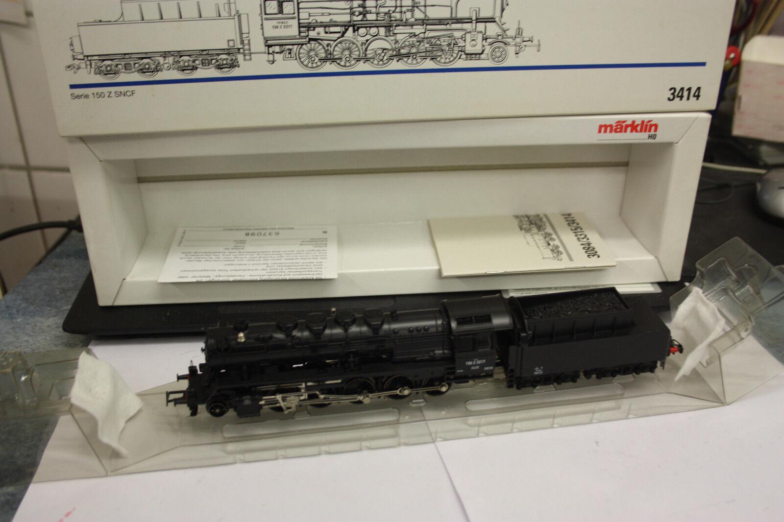 Märklin HO h0 somo 3414 a vapore-Lok BR 150 Z della SNCF TOP  OVP  lo39