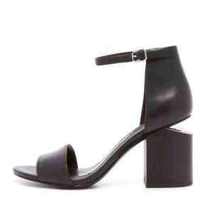 NEW-ALEXANDER-WANG-Abby-Ankle-strap-Leather-Sandal-Black-EUR-38-M-550