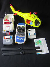 PLAY MOBIL - POLICE CAR 3904 Air Rescue Jeep Helicopter Playmobil