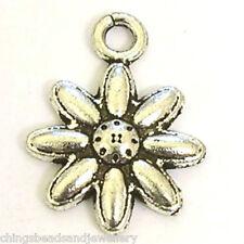 30 Tibetan Silver 15x20mm Flower Charms Jewellery Making