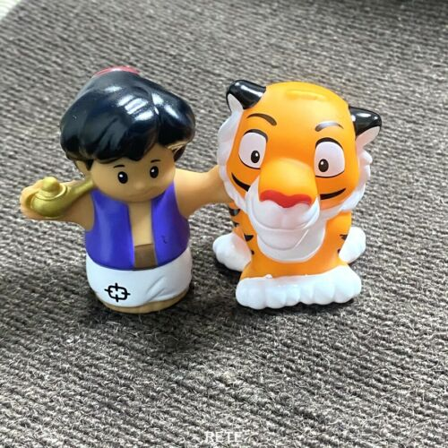 Details about  /Fisher Price Little People  Aladdin and Rajah The Tiger PVC Figures Toys