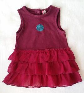920f03cb12571 Robe sans manches à volants prune bébé fille été 12 MOIS ORCHESTRA ...