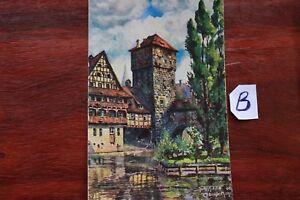 Carte Postale Bavière Nuremberg-afficher Le Titre D'origine Belle Apparence
