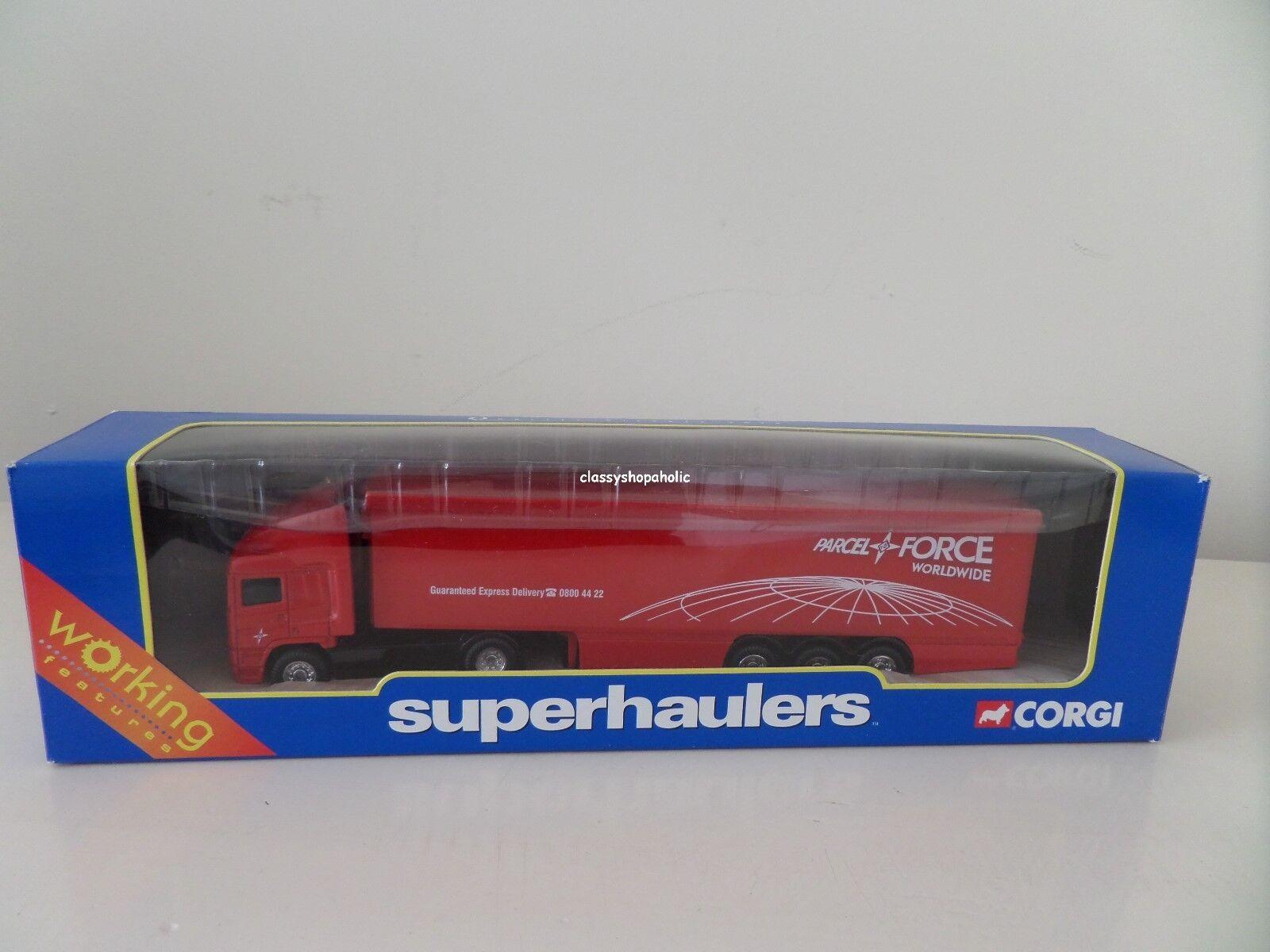 CORGI Superhaulers 59542 ERF BOX TRAILER - Parcelforce Logo - Boxed