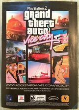 Grand Theft Auto Vice City Poster Ad Print Playstation 2 Rockstar