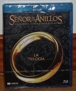 TRILOGIA-EL-SENOR-DE-LOS-ANILLOS-3-BLU-RAY-NUEVO-PRECINTADO-ACCION-SIN-ABRIR