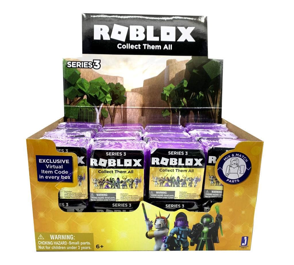 Roblox Celebrity Mystery cifra Series 3 Assortessit 24 Pack Case Sealed, Gift