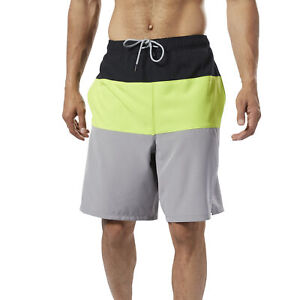 Reebok-Men-039-s-Colorblock-Tab-Volley-Shorts