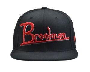 18874359 Details about SSUR New York BROOKNAM Black Red White Stitched Detail  Snapback Men's Hat