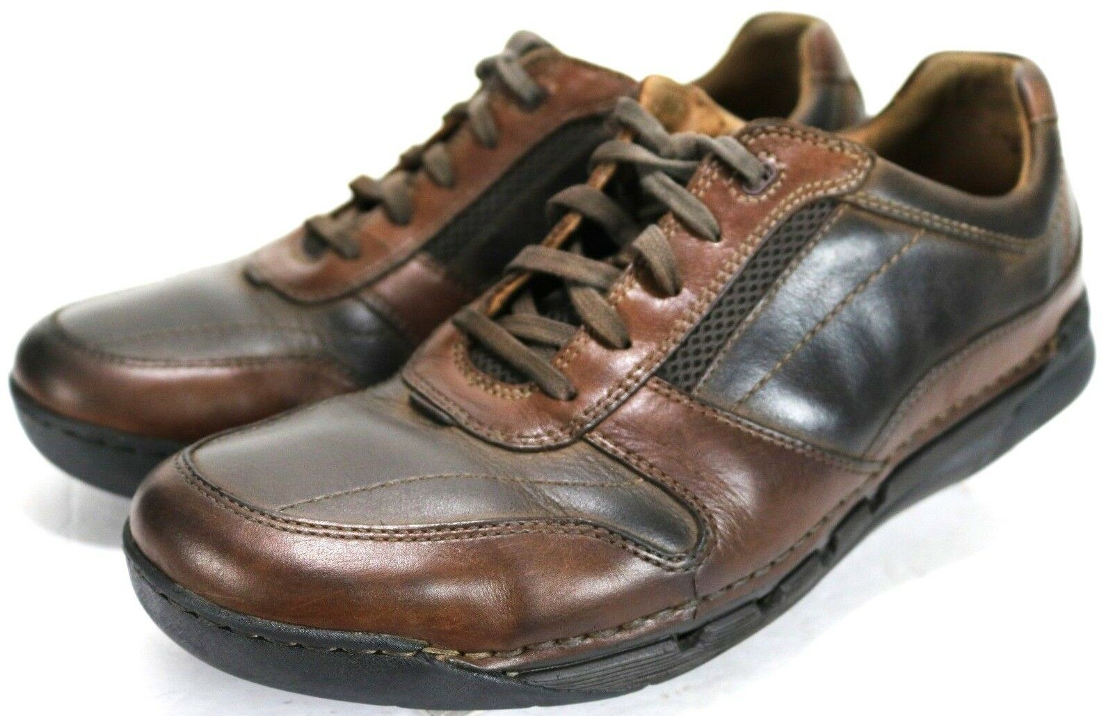 Clarks Unstructured  Men's Casual Sneakers shoes Size 10 Wide Leather Brown