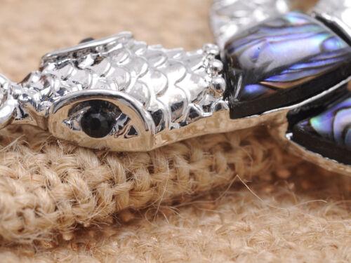 Petite Loge synthétique Abalone patch corps Argent Serpent Fashion Pendentif Bijoux Cadeau