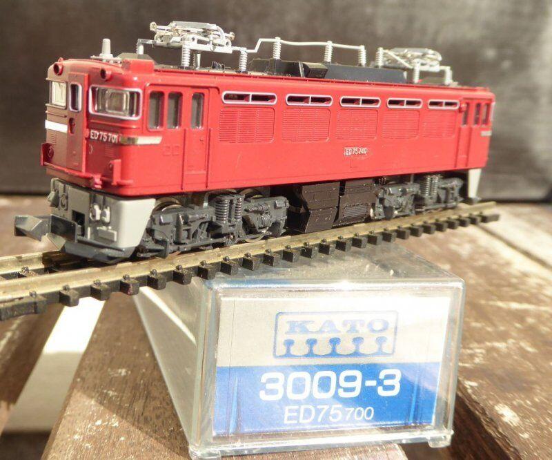 Kato 3009-3 N Gauge Electric Locomotive Ed 75 75 75 701 Der Jnr Japan Very Good Boxed bd012b
