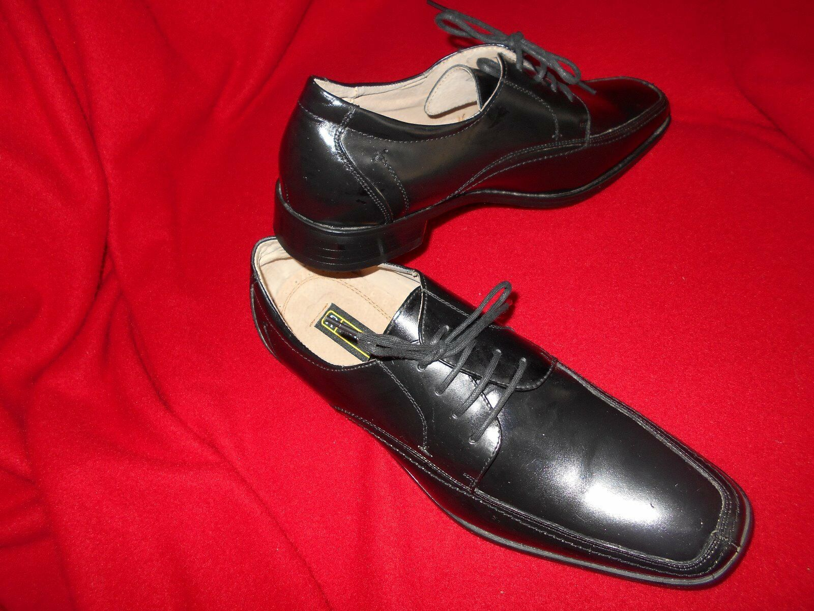 Men's Stacy Adams Oxfords Size 9.5 (D,M) Dress Solid Black Leather