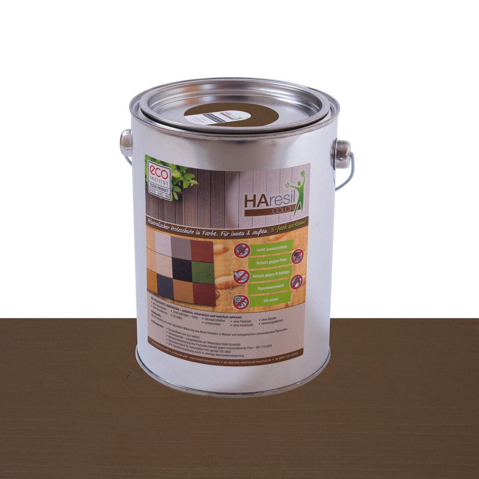 Bio Holzschutz Außen Haresil Farbe nußbraun schützt vor Holzwurm, Pilz,Termiten