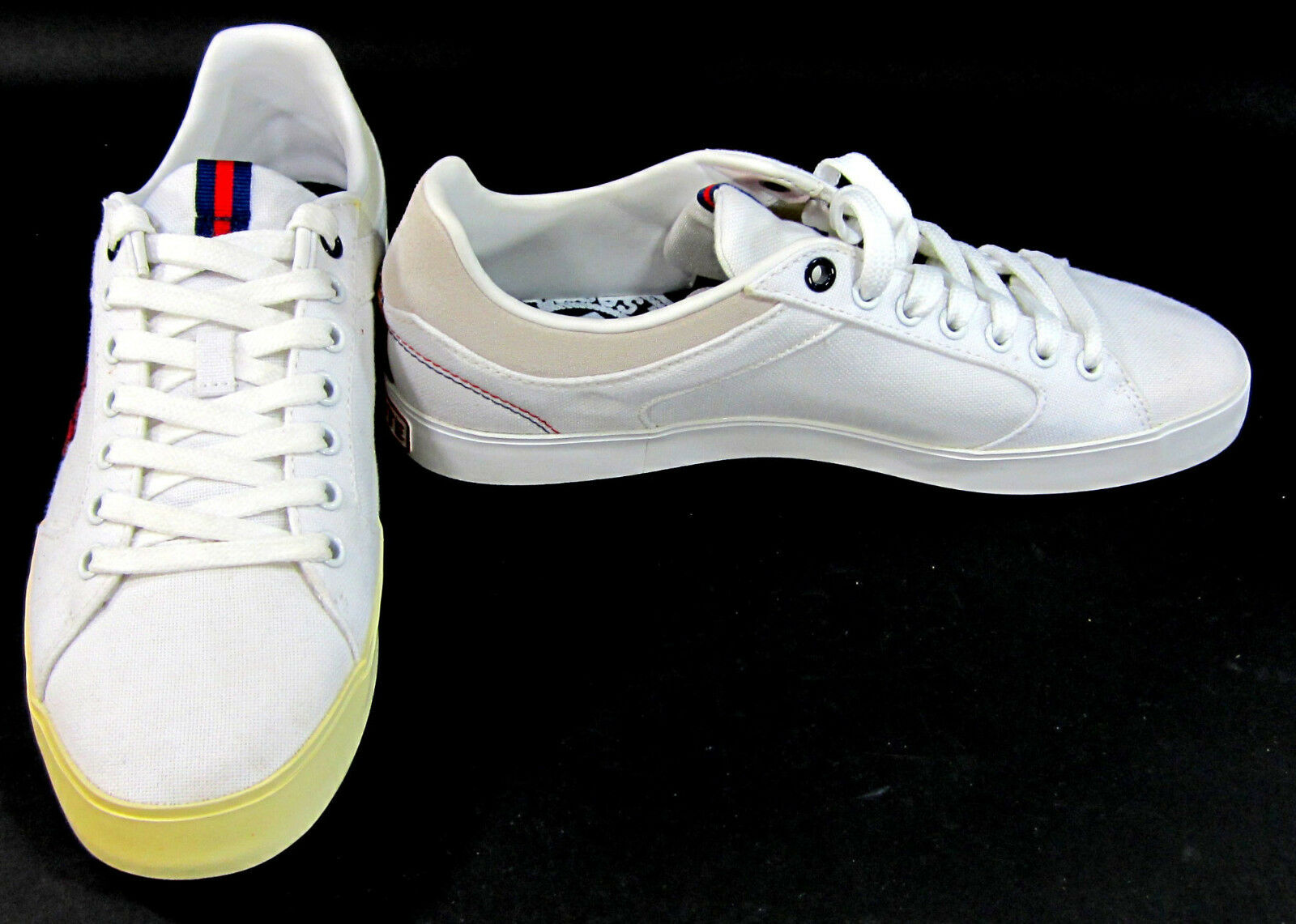 LaCoste shoes Newsome VY7 SPM White Red Sneakers Size 8