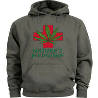 Medical marijuana sweatshirt 420 cannabis weed pot hoodie Mens size sweat shirt