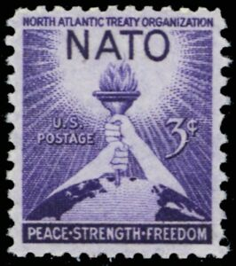 1008-MNH-NATO-Stamp-Printed-on-Very-Thin-Paper-ERROR-Stuart-Katz