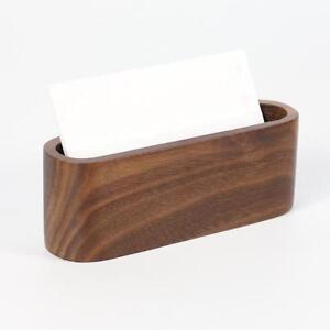 Details Zu Kartenhalter Für Visitenkarten Etui Aus Holz Halter Für Karten Neu
