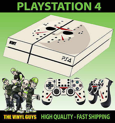 Faceplates, Decals & Stickers Contemplative Ps4 Skin Jason Voorhees Mask Halloween Clean Video Game Accessories Controller Decals Vinyl Lay Flat