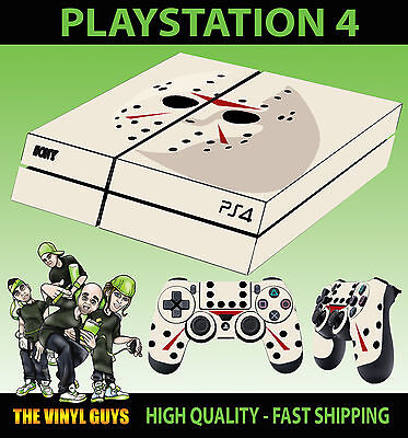 Contemplative Ps4 Skin Jason Voorhees Mask Halloween Clean Video Games & Consoles Controller Decals Vinyl Lay Flat Faceplates, Decals & Stickers