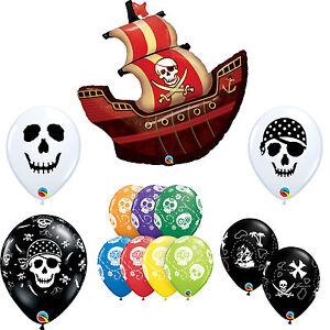pirata-tematico-Tesoro-Mapa-CALAVERA-barco-Latex-amp-METALIZADO-Qualatex-Globos