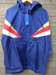 Details about Adidas Originals Fontanka Anorak Half Zip Jacket Men's Sz XL Blue Gold Red White