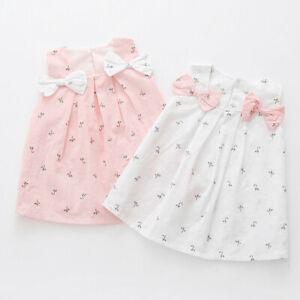 Toddler-Kids-Baby-Girls-Summer-Bow-Print-Floral-Suspender-Princess-Party-Dresses