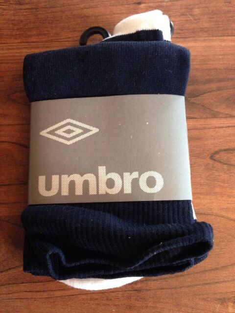 d239b28f353b Youth Umbro Best Soccer Socks Navy   White Size 7-9 for sale online ...