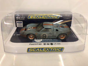 Scalextric-C4104-Weathered-Ford-GT40-GULF-24Hr-Le-Mans-1968-No-9-Limited
