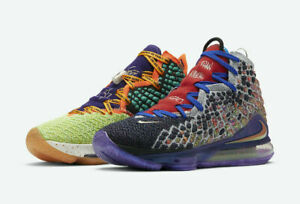 """Nike Lebron XVII WTW """"What the"""" Multi-Color CV8079-900 Basketball Shoes Mens NEW"""