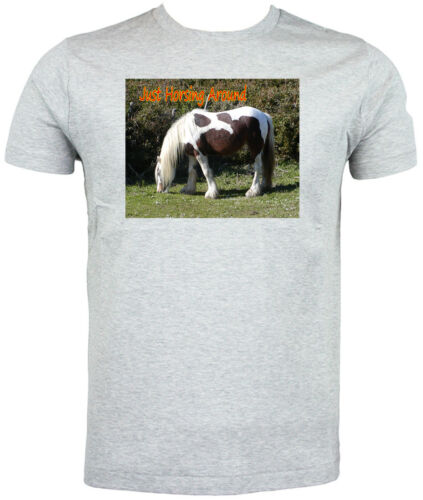 Just Horsing Around Skewbald Horse T shirt Choice of size /& colours!