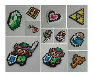 Legend of zelda pixel link decorations hama for Decoration zelda