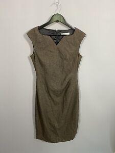 L-K-BENNETT-Dress-Size-UK12-Brown-Great-Condition-Women-s