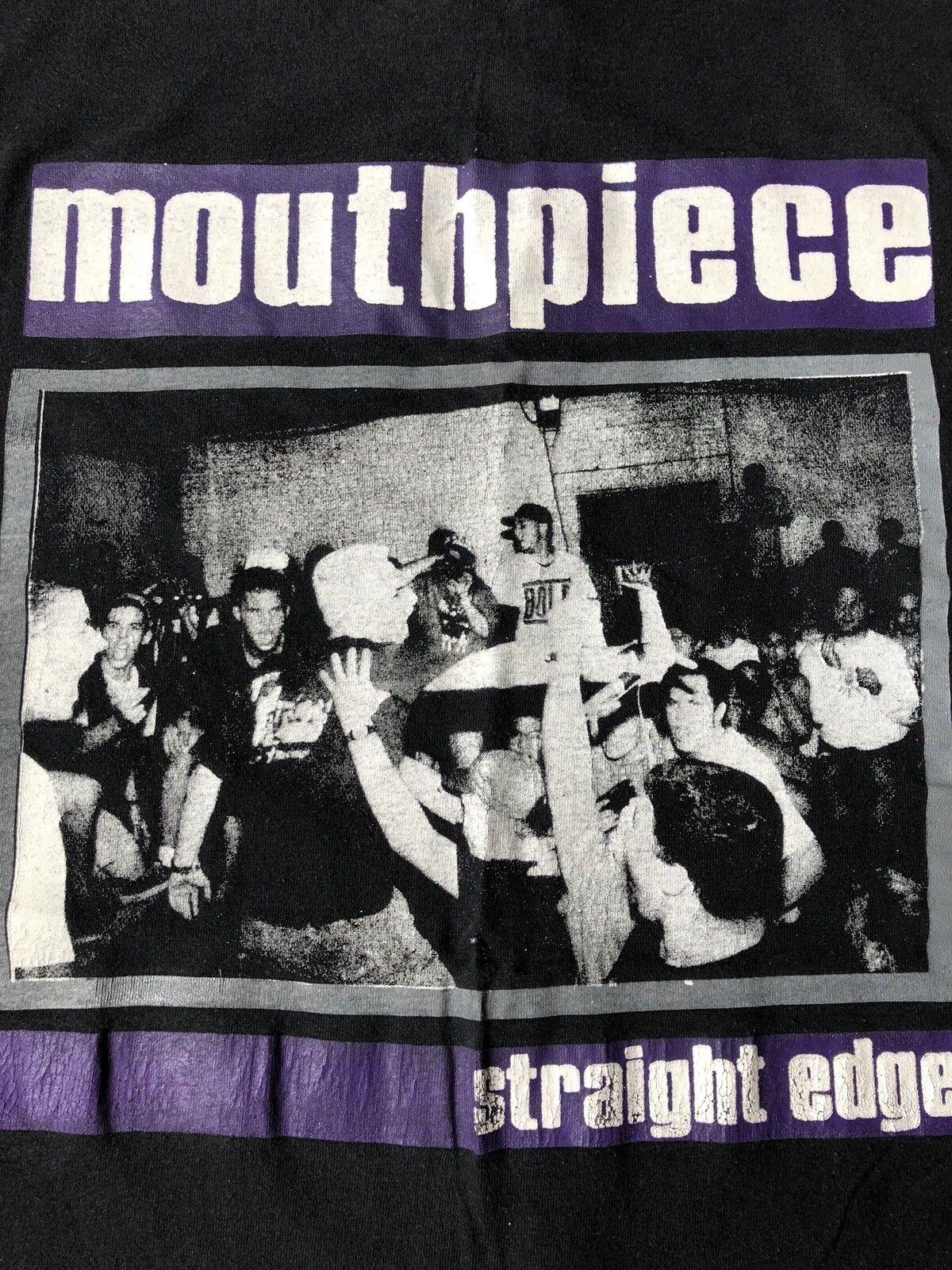 True Vintage Original MOUTHPIECE L XL T-Shirt Hardcore Straight Edge Youth Crew