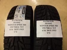 2 HANKOOK WINTER IPIKE RS 195 70 14 91T BRAND NEW WINTER PAIR 1014442