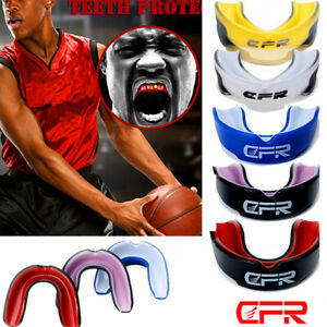 Mouth Guard Shield Case Mouthpiece Boxing MMA Basketball Gel Gum Teeth Protector