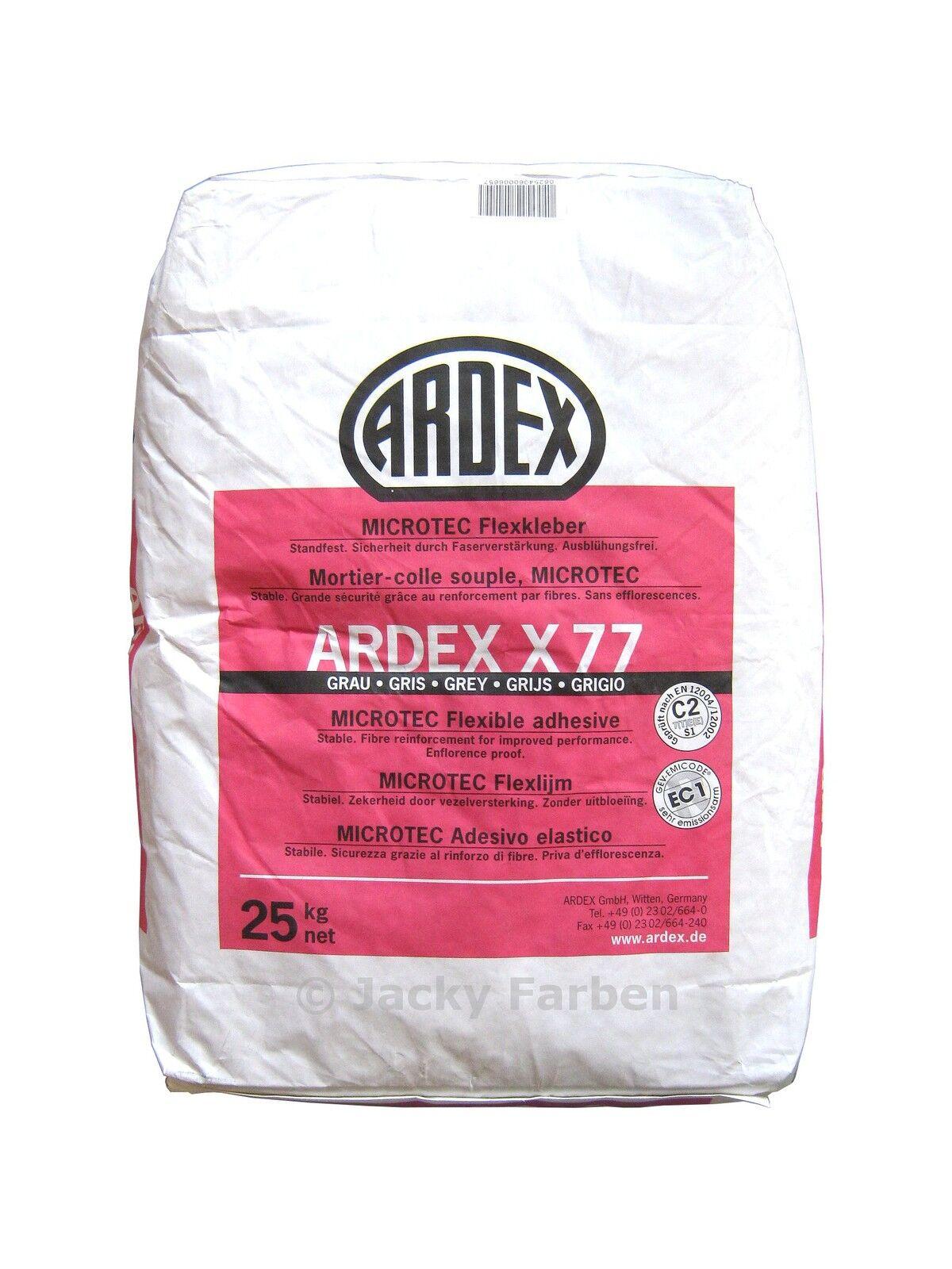 Ardex X77 Fliesenkleber Flexmörtel 25kg faserverstärkt MICROTEC
