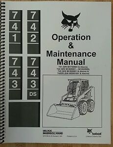 bobcat 743 operation operator maintenance manual book hi s n skid rh ebay com bobcat 743 manual pdf bobcat 743 owners manual