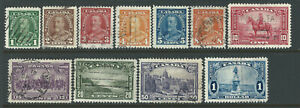 """Bigjake: Canada #'s 217 to 227, King George V """"Bar"""" Issue & Pictorials"""