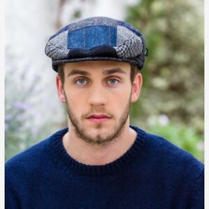 f66c8cb7f3fed Irish Made Blue Patch Flat Cap Hat By Mucros Weavers Free Worldwide ...