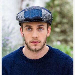 Irish Made Blue Patch Flat Cap Hat By Mucros Weavers Free Worldwide ... f3a10f00f30