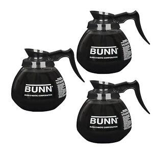 Bunn 5850 Commercial Glass Decanter 12 Cup 64 Oz Black Coffee Pot