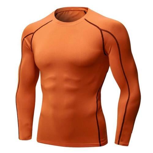 Herren Kompressionsshirt Muskelhemd Langarm Funktionsshirt Top Fitness Baselayer