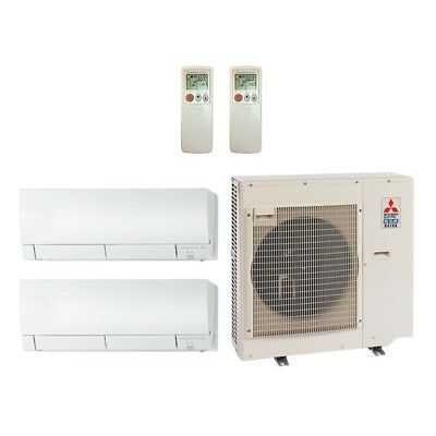 30 000 Btu 19 Seer Mitsubishi Dual Zone Mini Split Heat