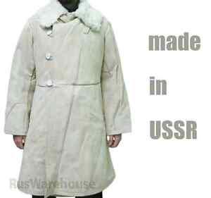 Russian Shearling Sheepskin Fur Coat Bekesha Soviet Tulup USSR ...