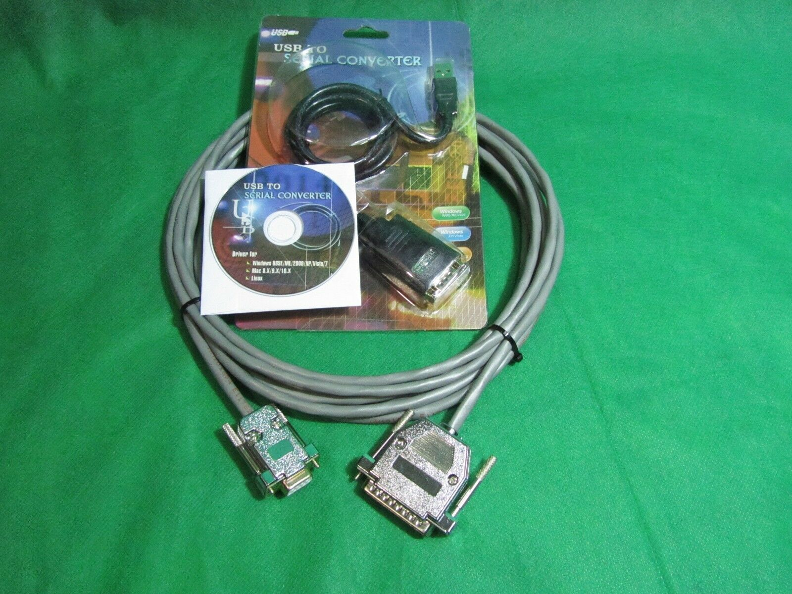 6 ft Quality CNC DNC RS232 Serial Cable DB9F to DB25M for PC and Laptop Kit.