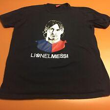 Lionel Messi Portrait Navy Tee T Shirt Soccer FC Barcelona Argentina Karga Men L