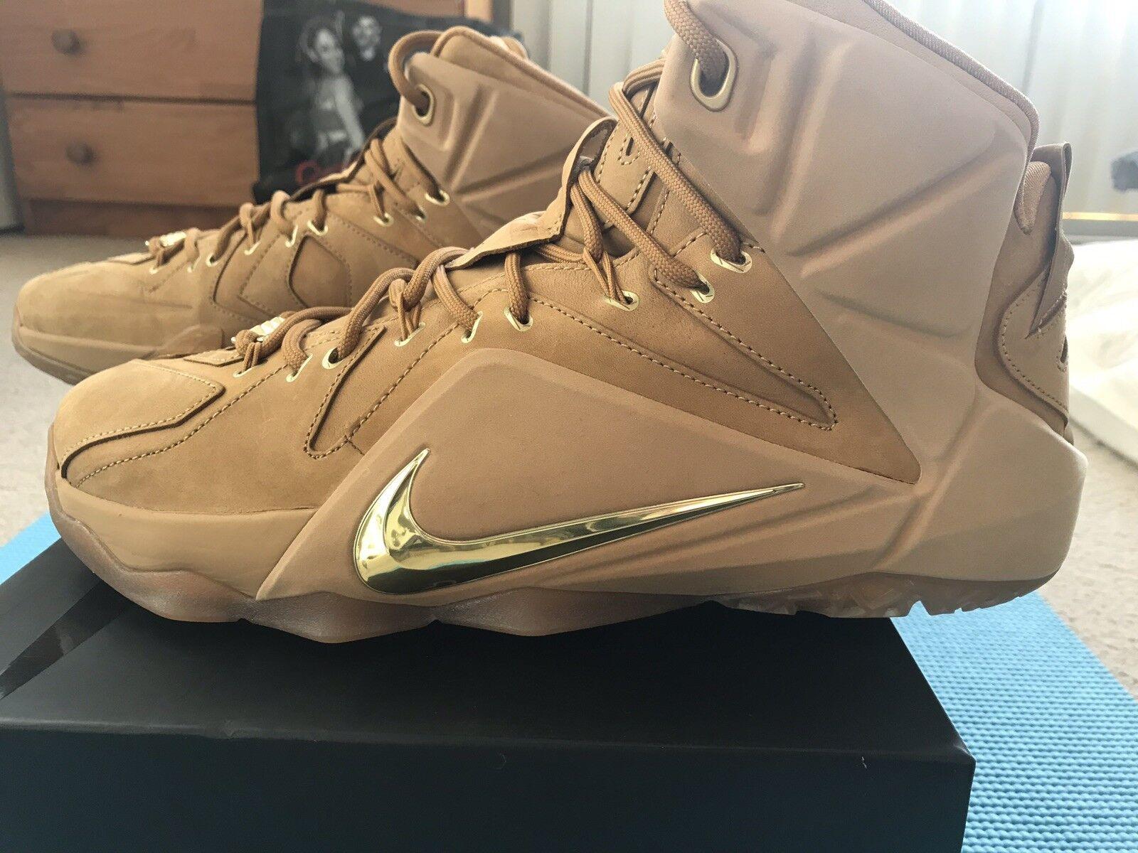 Nike Lebron 12 XII Ext Wheat Men Size 10