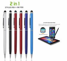 3x 2-in-1 Touch Screen Stylus Ballpoint Pen for iPad iPhone Smartphone Tablet