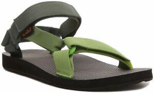 Teva Original Universal Da Uomo Con Cinturino Sandalo in Verde Taglia UK 6 - 12